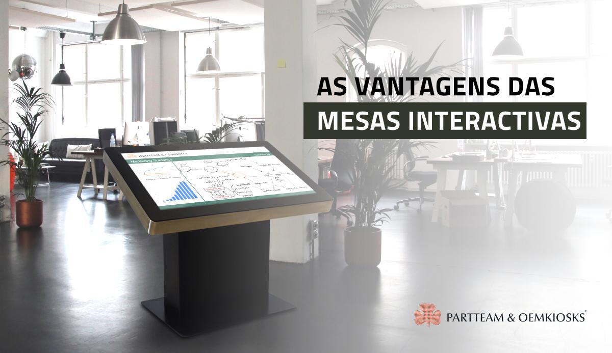 10 vantagens das mesas interactivas que não vai querer perder