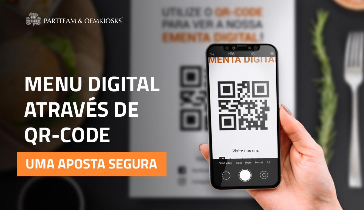 Menus digitais através de QR Code: uma aposta segura
