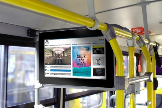 The great purpose of on board digital signage is to transmit information in real-time to the passengers