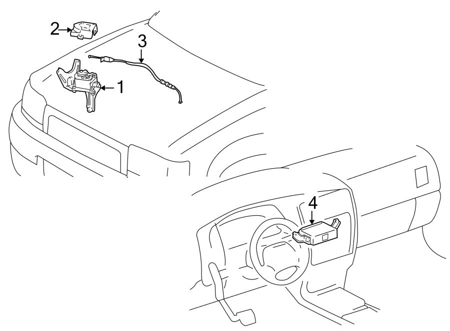 Toyota 4Runner Cruise Control Actuator Cover. 3.4 liter