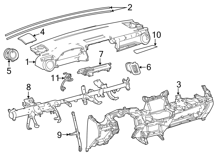 Toyota RAV4 Instrument Panel Wiring Harness. Instrument
