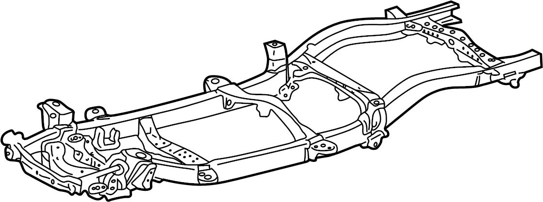 Toyota Tacoma Frame Rail. 4WD, 2.7 liter, standard cab