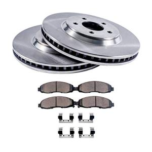 Detroit Axle - Front Brake Rotor Set & Brake Pads w/Clips Hardware Kit Premium GRADE for 2002-2004 Infiniti i35 - [2002-2006 Nissan Altima No SE-R] - 2002-2003 Nissan Maxima