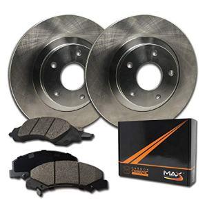 Max Brakes OE Series Rotors w/Ceramic Brake Pads Front Premium Brake Kit KT037741 [Fits:2005-2015 Nissan Frontier V6 Xterra | 2009-2012 Pathfinder V6]