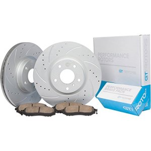 [Front Kit] GT//Rotors Performance Brake Disc Rotors & Ceramic Pads for Nissan Altima 2007-2013