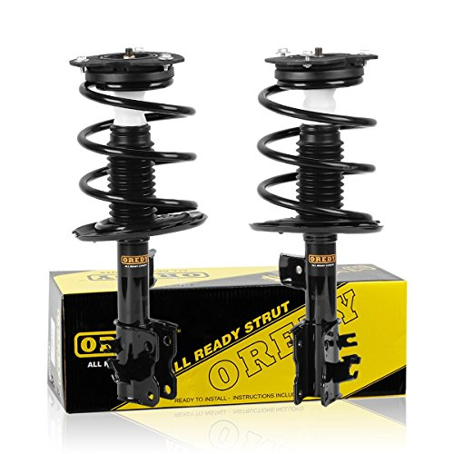 OREDY Front Pair 2 Pieces Complete Quick Struts Shock Coil Spring Assembly Kit 11597 11598 2331839L 2331839R compatible with 2007 2008 2009 2010 2011 2012 Nissan Altima 6 CYL