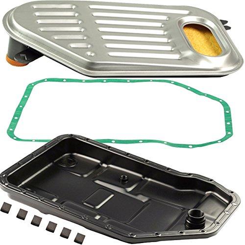 Bapmic Auto Transmission Oil Pan + Filter + Gasket Kit for Volkswagen Passat Audi A4 A6 A8