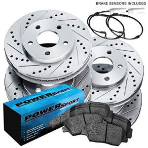 Fit 1999-2000 BMW 328i, 323i Front Rear Drill Slot Brake Rotors+Ceramic Pads