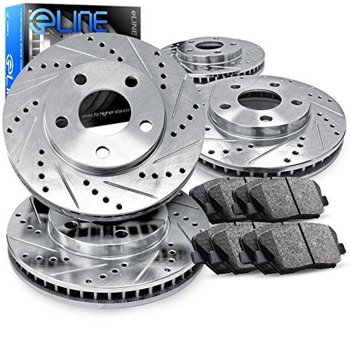 For 2013-2018 Nissan Altima Front Rear eLine Drill Slot Brake Rotors+Ceramic Pad