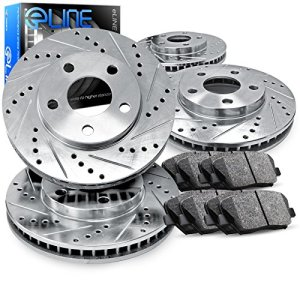 For 2013-2018 Nissan Altima Front Rear eLine Drill Slot Brake Rotors+Ceramic Pad