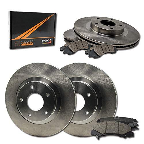 Max Brakes OE Series Rotors w/Ceramic Brake Pads Front + Rear Premium Brake Kit KT010243 [Fits:2001-2005 BMW 325i 325Ci E46]