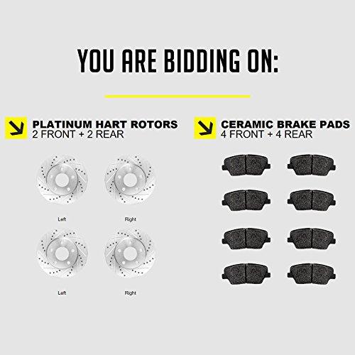 Fits 2009-2018 Nissan Maxima Front Rear Drill Slot Brake