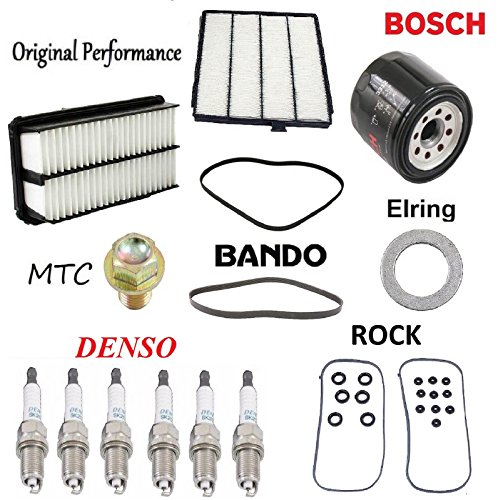 Tune Up Kit Cabin Air Oil Filters Plugs for Honda Odyssey 3.5L 2001