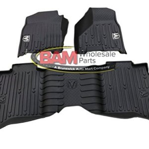 Dodge Ram Crew Cab Black High Wall All Weather Floor Mats OEM Mopar