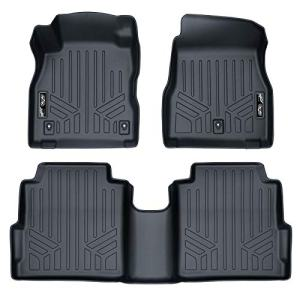 SMARTLINER Custom Fit Floor Mats 2 Row Liner Set Black for 2018-2019 Nissan