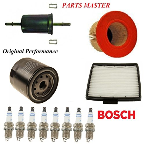 8USAUTO Tune Up Kit Air Cabin Oil Fuel Filters Spark Plug