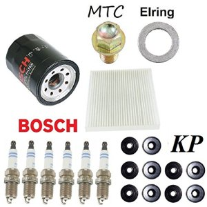 Tune Up Kit Cabin Air Oil Filters Plugs Gasket for Honda Accord V6; 3.0L 2003-2007