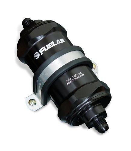 Fuelab 81801-1 Black 10 Micron Standard Length In-Line Fuel Filter