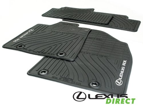 Lexus Genuine Parts PT908-48130-20, Black OEM RX350 All-Weather Floor Mats