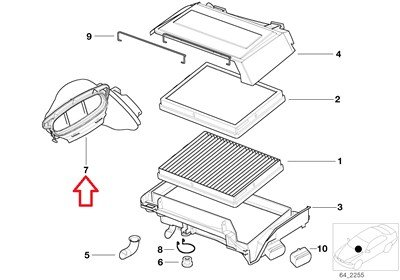 BMW Genuine Duct for Cabin Air Filter Housing Right Best
