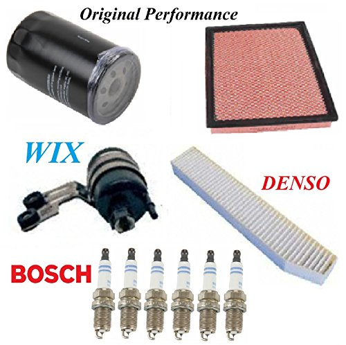 8USAUTO Tune Up Kit Air Cabin Oil Fuel Filters Spark Plug Fit JEEP