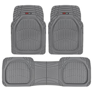 Motor Trend Flextough Contour Liners-Deep Dish Heavy Duty Rubber Floor Mats
