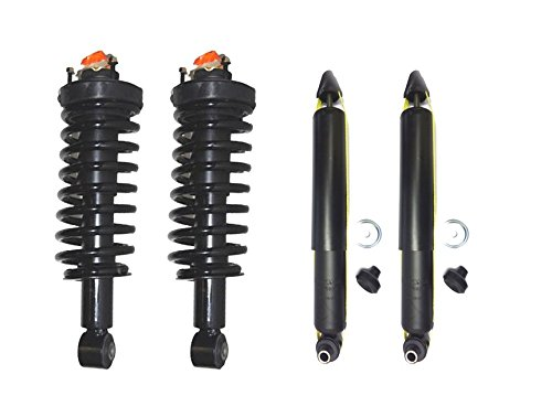 DTA Full Set 2 Front Complete Struts with Springs and Mounts + 2 Rear Shocks