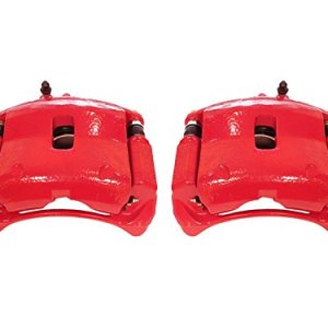 Power Stop S2644 Front Red Powder Coated Performance Caliper Set