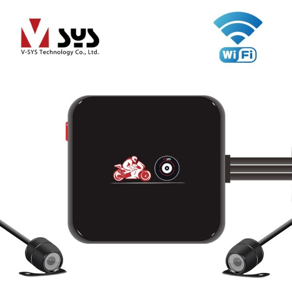 Full HD Motorcycle DVR Riding Camera Recorder with HD 720P Rear View