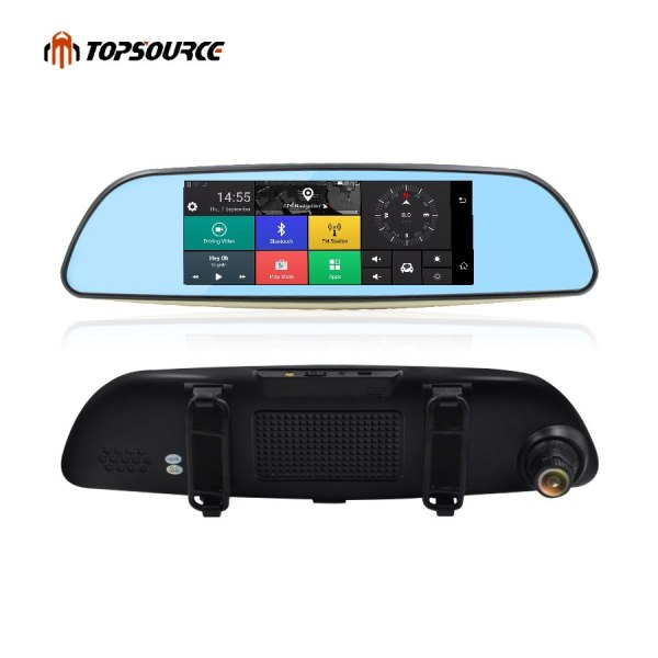 3G Car Mirror GPS DVR Navigation Dual Lens rear view cam FHD 1080P