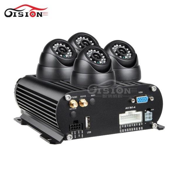 Free Shipping 4Pcs IR Night Vision Vehicle Camera+4CH 4G LTE