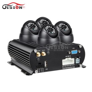 Free Shipping 4Pcs IR Night Vision Vehicle Camera+4CH 4G LTE