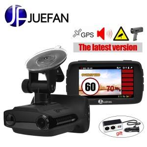 JUEFAN Hot Russia car dvr radar detector dash cam GPS 3 in 1