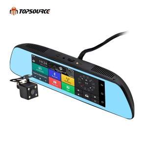 """TOPSOURCE New 7"""" Special 3G CAR Mirror Rearview Car DVR Camera"""