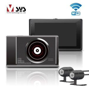 T2 Upgrade M1 WiFi Dual Camera Motorcycle DVR Dash Cam