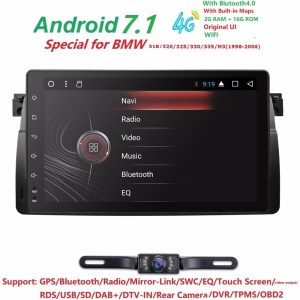 "4G 9""Android7.1 QuadCore Head Unti Car NODVD Player"