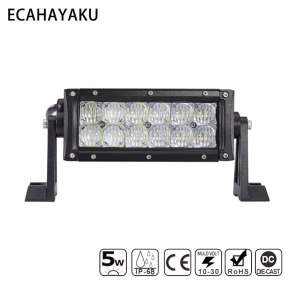 7INCH DUAL 60W LED LIGHT BAR 5D 5W CHIP SPOT FLOOD