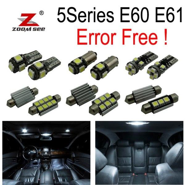 LED License Plate lights + Interior dome bulb Kit for bmw E60 E61 M5 525xi 525i