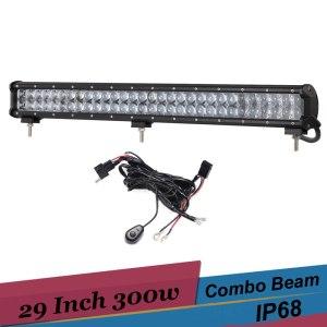 300W 4D LED Light Bar Combo Car LED Work Light 29 Inch