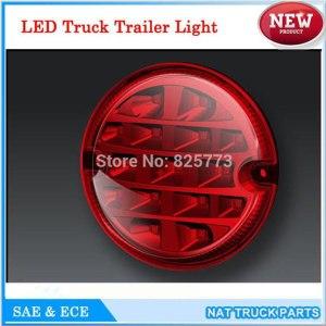 12V/24V Round 95mm LED Trailer Truck Lights Stop Turn