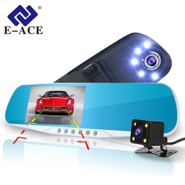 Video Recorder 5 Led Lights Dash Cam DVRs With Rear View Camera