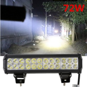 12 inch 5700LM 72W LED Light Bar offroad Truck Trailer 4x4