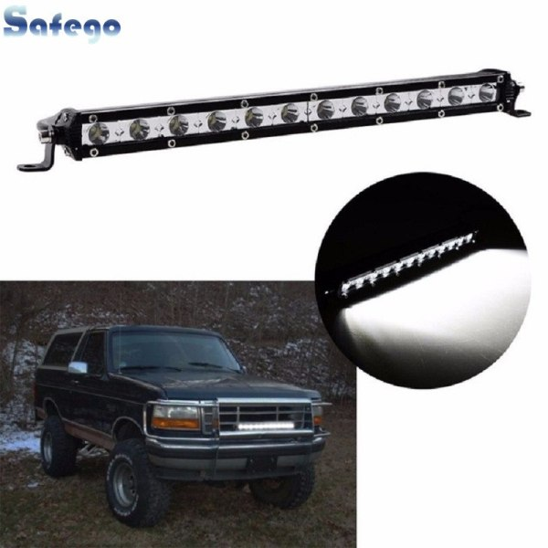 Single LED Light Bar Work Off-road For Jeep Truck 4*4 SUV ATV Tractor