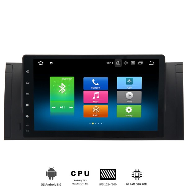 one din Android 8.0 Car GPS For BMW car Radio Navi Multimedia player