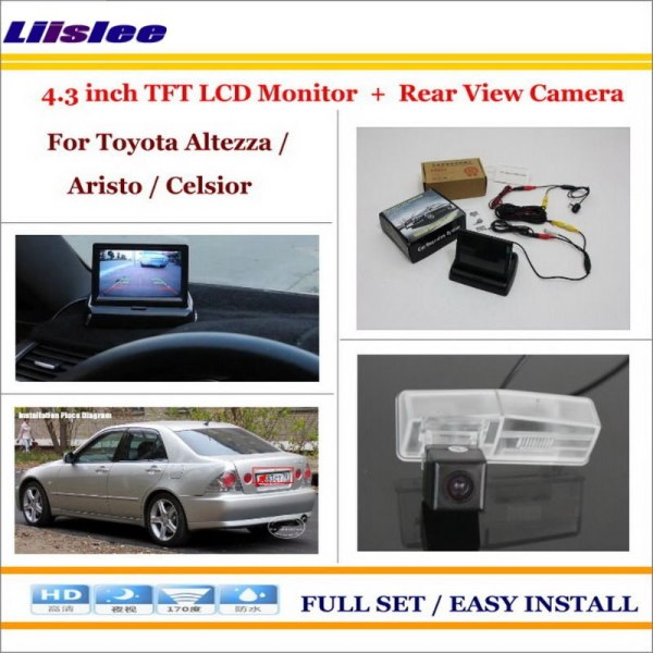 """Liislee For Toyota Altezza / Aristo / Celsior Car Parking Camera + 4.3"""" LCD Monitor NTSC PAL = 2 in 1 Parking Rearview System"""