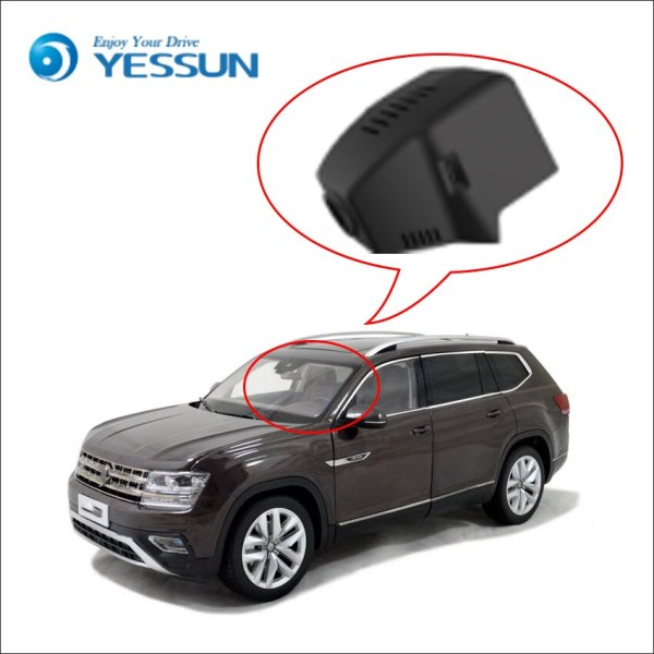 YESSUN Not Rear Back Camera Car DVR Driving Video Recorder for Volkswagen Teramont 2017 Front Dash Camera HD 1080P