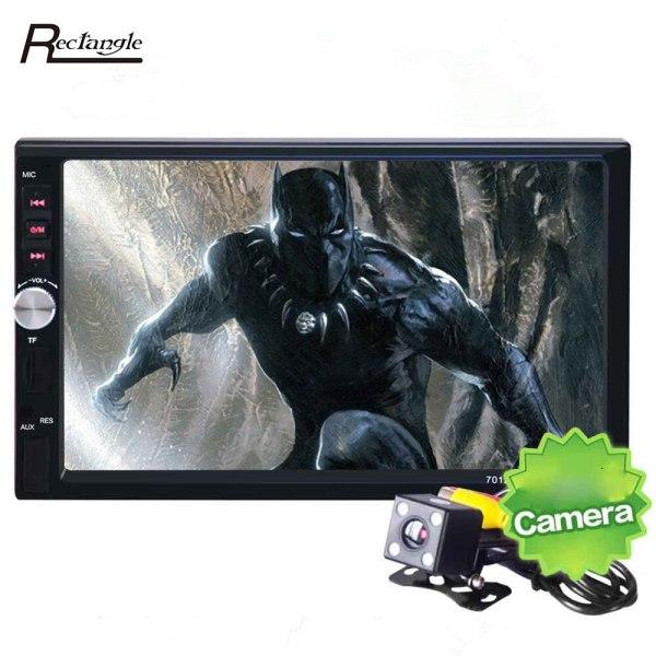 7012B Car DVD 2 Din Car Radio Bluetooth FM Subwoofer 7 Inch Dash Touch Screen Car Multimedia Player Support Rear View Camera