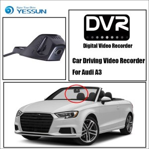YESSUN Car Front Dash Camera Not Reverse Parking Camera For Audi A3 DVR Driving Video Recorder - For iPhone Android APP Control