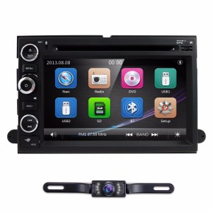 Fit Ford F150 F250/350/Edge/Fusion/Mustang In Dash DVD Player GPS Navigation Stereo Radio BT Steering Wheel Ctrl DAB RDS MAP CAM