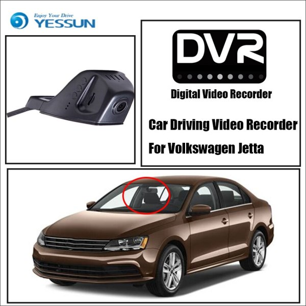YESSUN HD 1080P Car DVR Digital Driving Video Recorder for Volkswagen Front Dash Camera Front CAM
